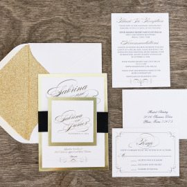 Gold Metallic Layered Suite